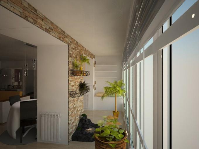 зимний сад на утепленном балконе