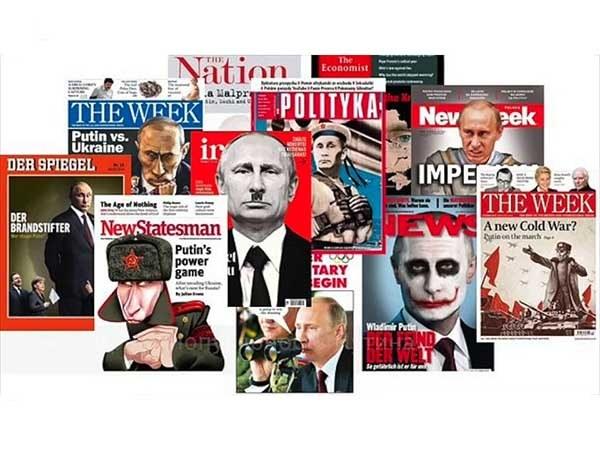 В.Путин на обложках мировых изданий после аннексии Крыма