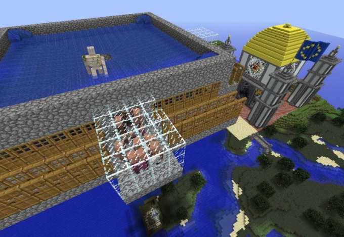 One of the stages of the building of the farm of iron