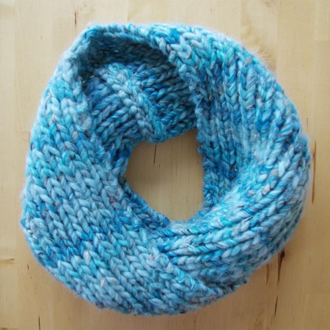 Как связать шарф снуд