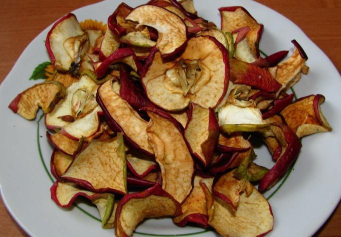 Как нарезать яблоки для сушки