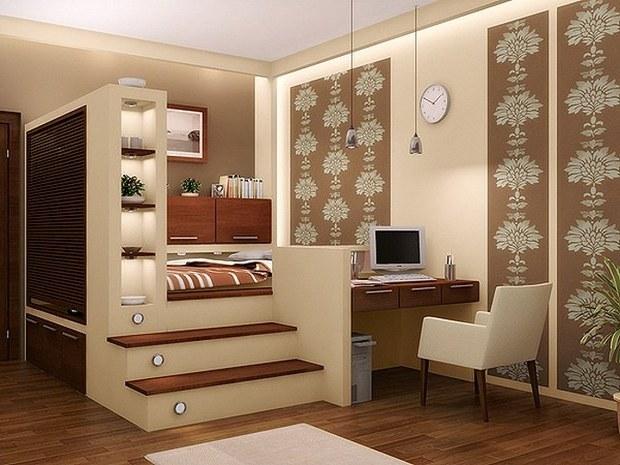 Подиум для кровати: современное функциональное решение