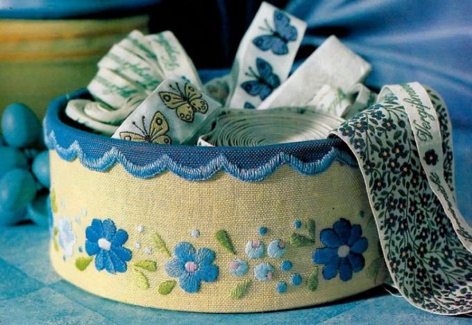 Шкатулка из ткани