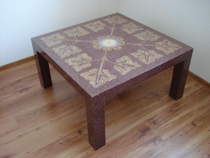 Decoupage table
