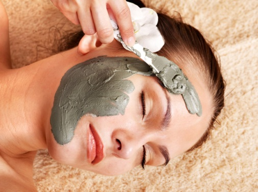 Black clay for face