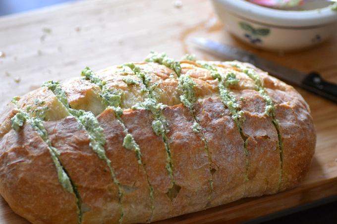 Как приготовить пикантный хлеб
