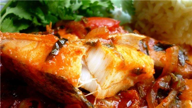 Вкусная рыба в грузинском стиле