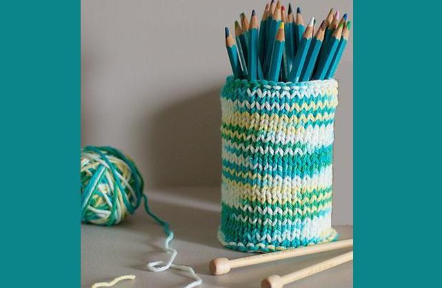 декоративный стакан под карандаши просто и быстро