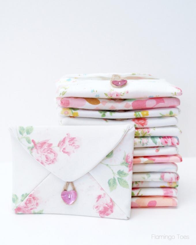 Как сделать текстильный конверт