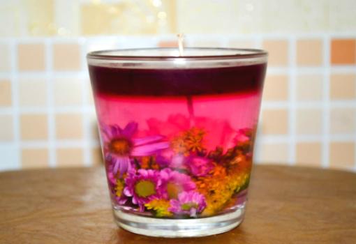 """Изготовление свечи """"Цветочный букет"""""""