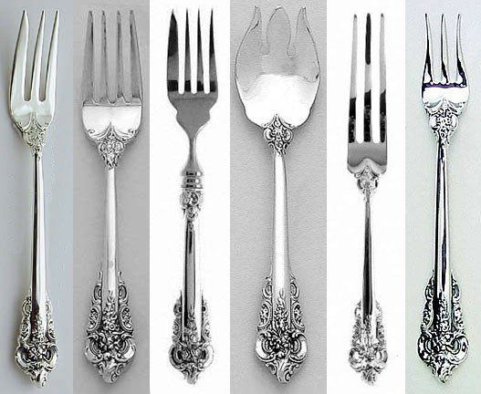 Fork. A variety of types