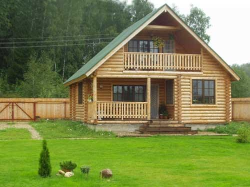 A country house can be build of wood