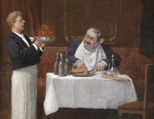 """""""Гурман"""", картина художника Генри Бриспота"""