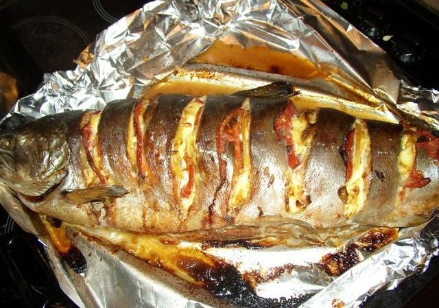 Coho salmon in the oven - tasty and healthy