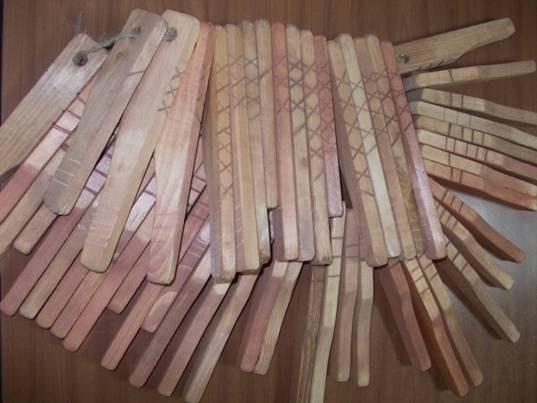 Долговые расписки в виде палочек с зарубками