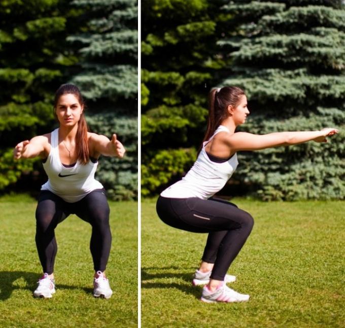 Приседания для похудения: эффективность, техника выполнения