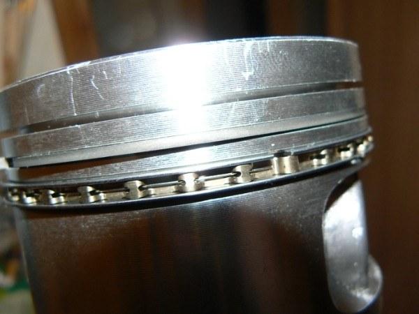 VAZ piston with rings