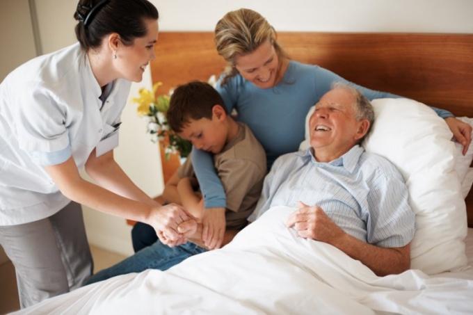Посещение родственника в больнице
