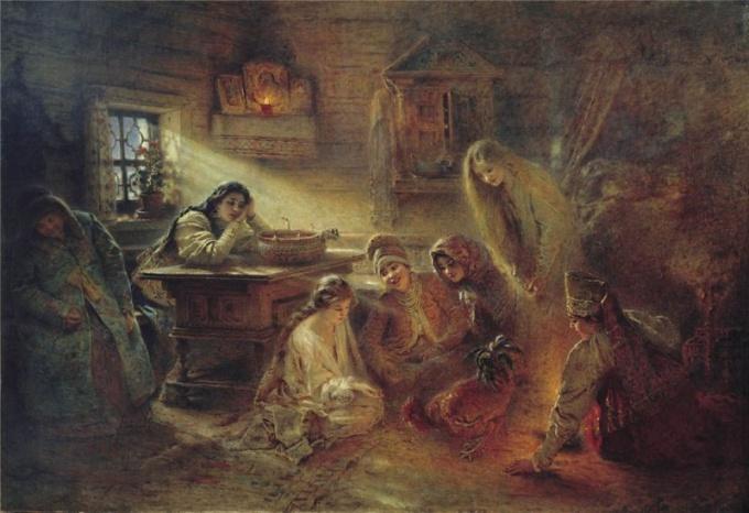 Иллюстрация к балладе В.Жуковского «Светлана»
