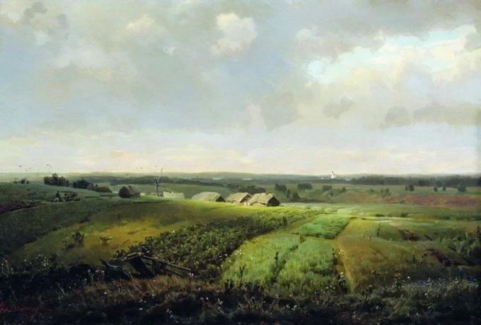 А. Васнецов. Известные пейзажи - Родина, 1886