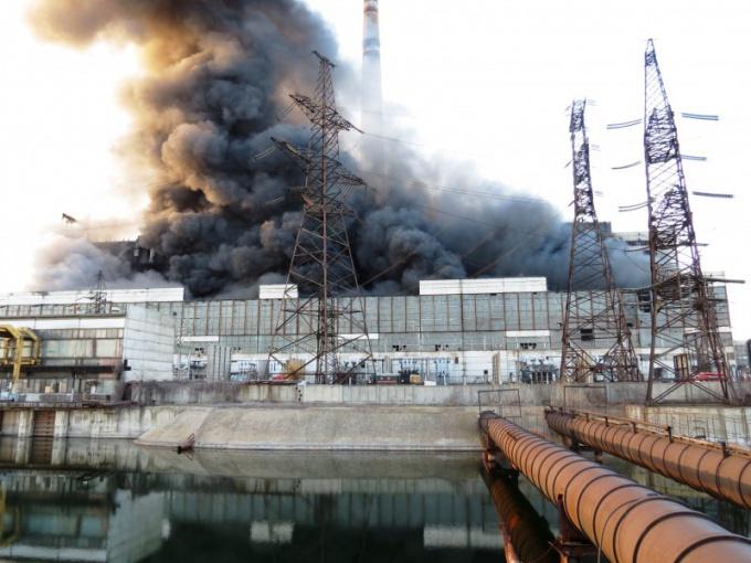 Техногенная катастрофа - взрыв и пожар на заводе