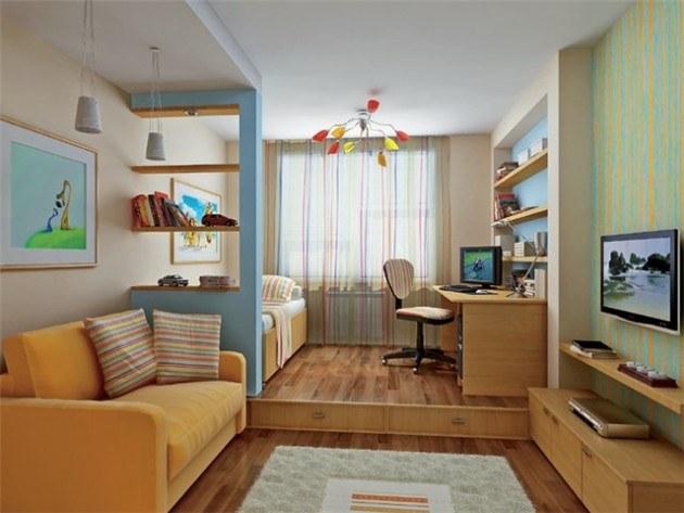 Можно ли обустроить гостиную и детскую в одной комнате