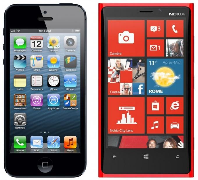 Что лучше Nokia Lumia 720 или iPhone 5с