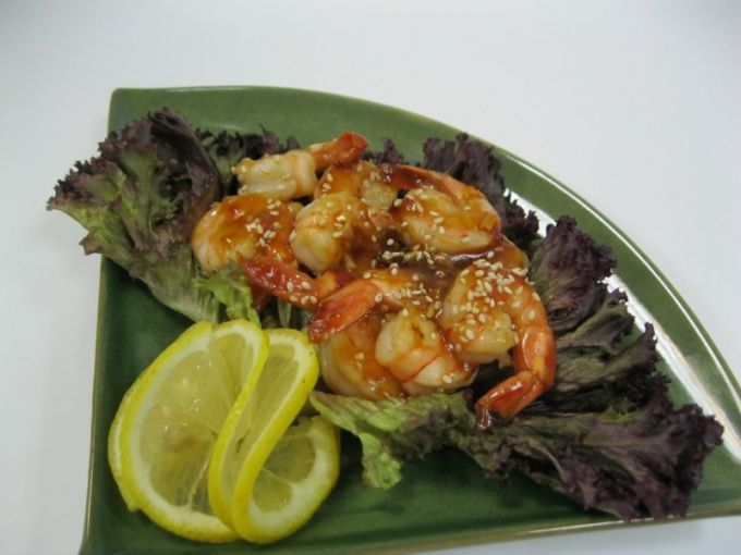 How to cook shrimp with mussels in teriyaki sauce: recipe