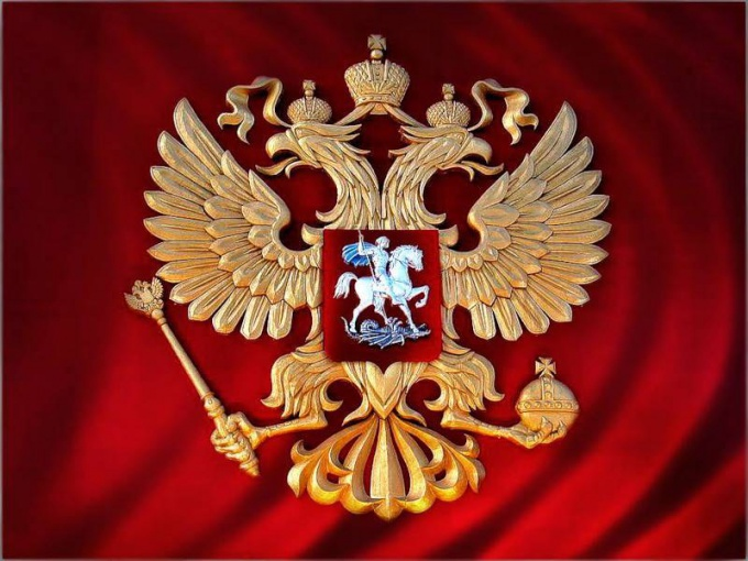The double - headed eagle emblem of the Russian Federation