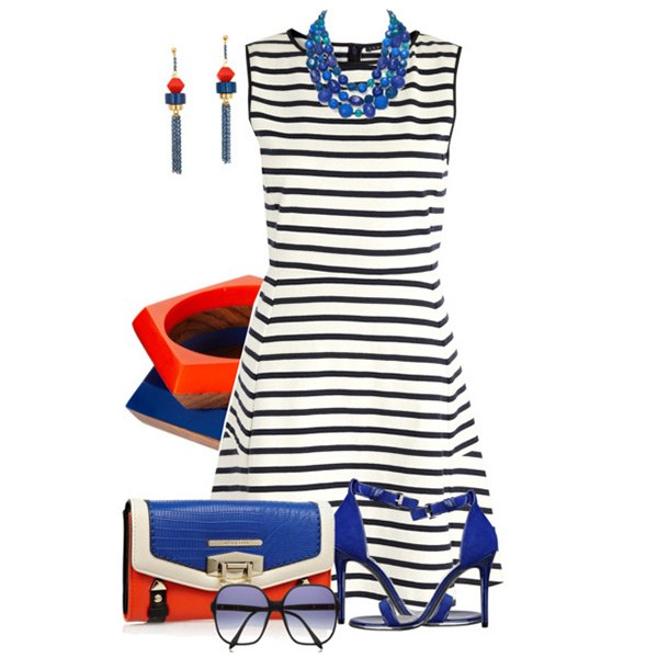 What to wear with summer dresses striped