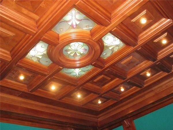 Как называется потолок с кессонами
