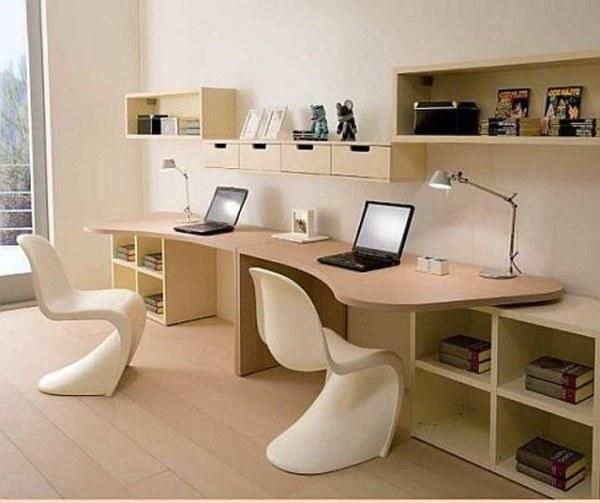 Как оформить письменный стол для двоих детей