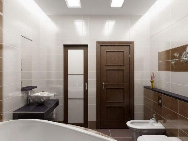 Дизайн двери для ванной
