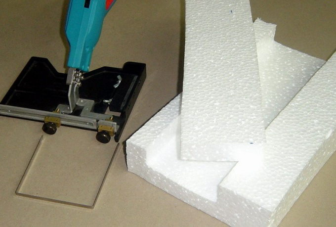 For cutting the foam use a special tool - cutter