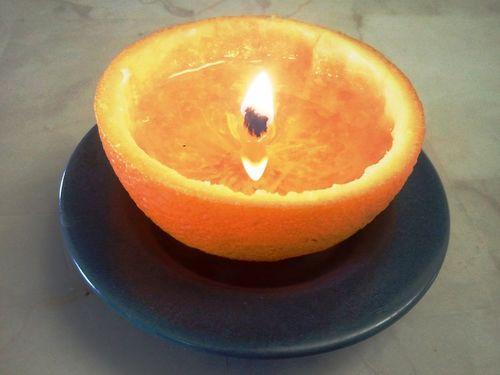 Как сделать свечу из апельсина?