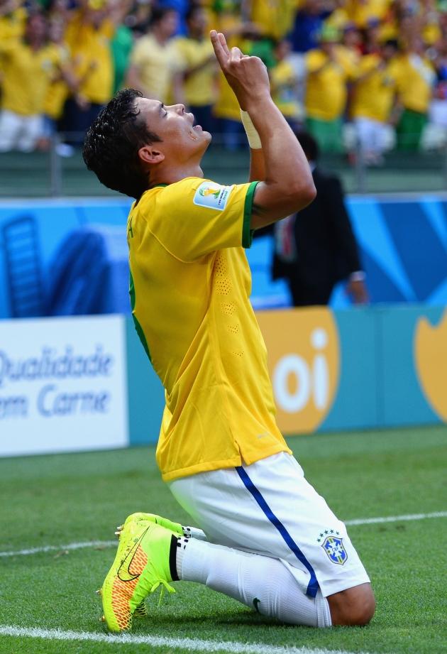 1/4 финала ЧМ 2014 по футболу: Бразилия - Колумбия