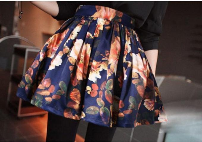 Юбка с цветочным принтом: с чем ее носить летом 2014
