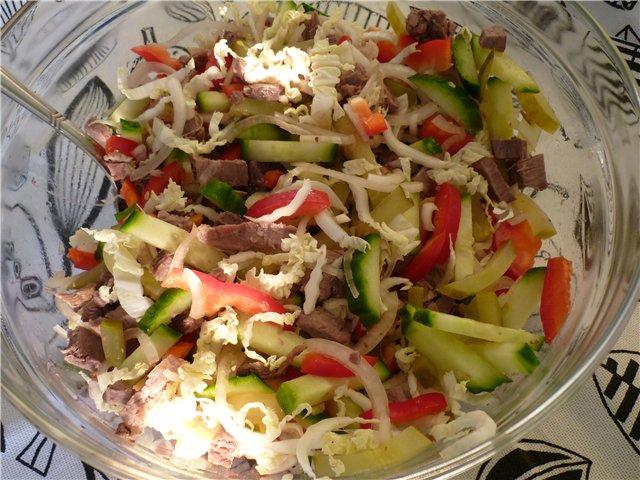 Теплый салат рецепты