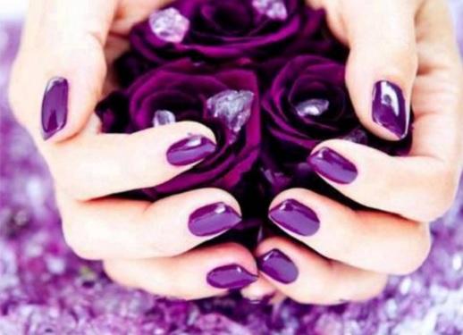 Дизайн ногтей: фиолетовый маникюр
