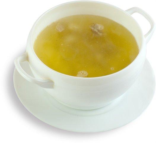 Куриный бульон с травами и лимоном