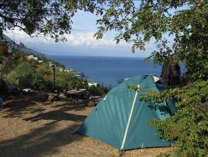 Палатка в Крыму