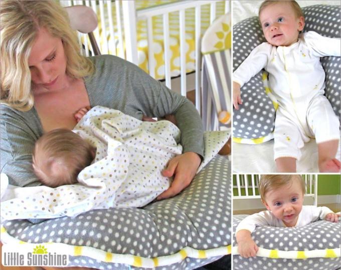 Как сшить подушку для кормления ребенка