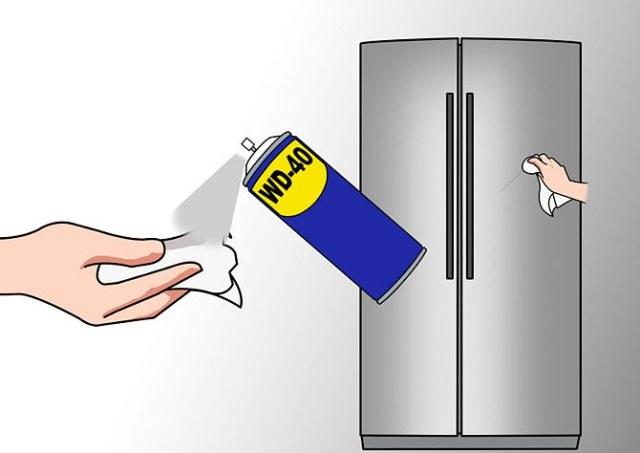 Устранение царапин на холодильнике