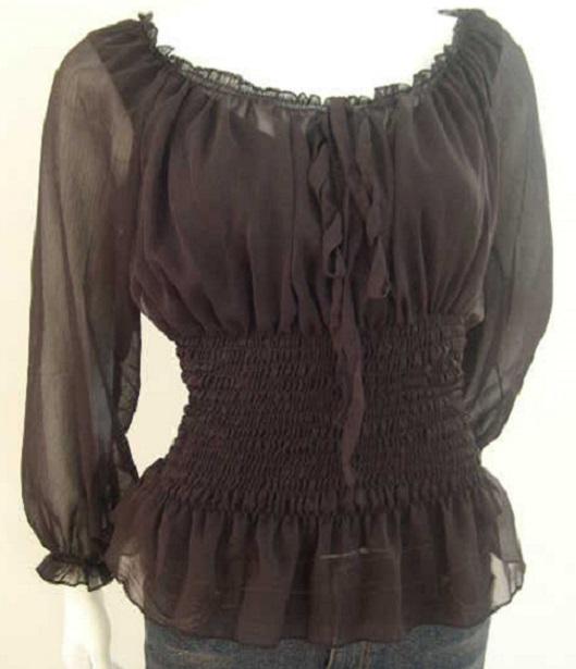Летняя мода: блузки из шифона