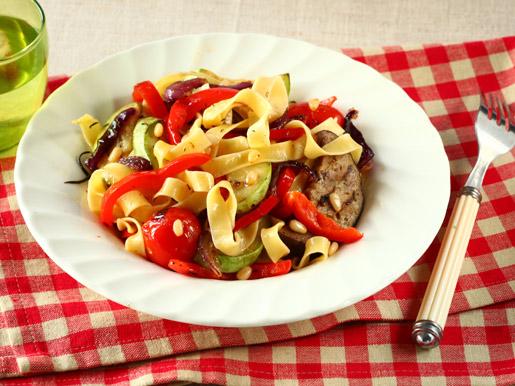Как приготовить пасту с овощами-гриль