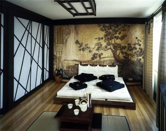 Как оформить интерьер спальни в японском стиле