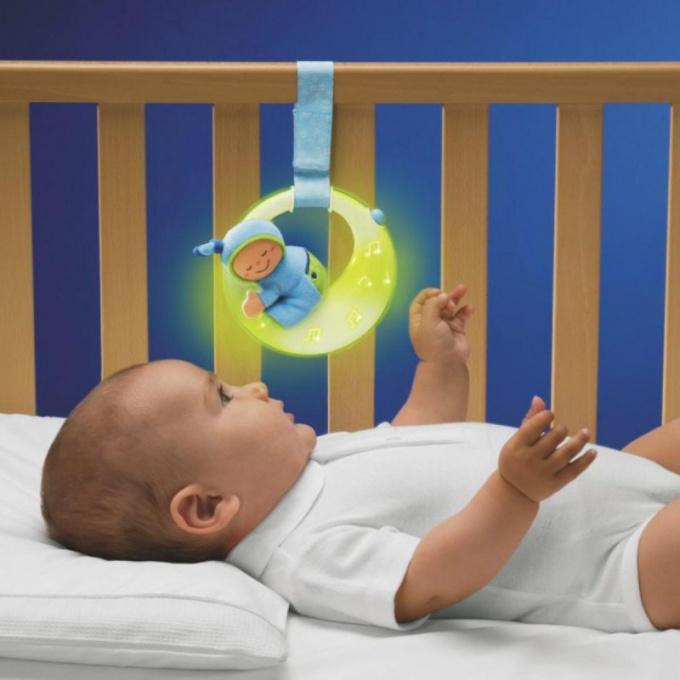 Как повесить игрушку над кроваткой