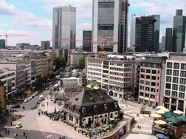 Франкфурт-на-Майне. Смотровая площадка в Кауфхоф