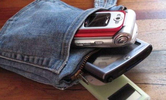 Чехол для телефона из джинсов