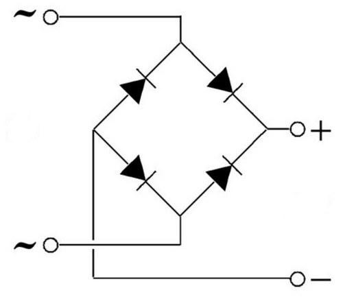 Схема диодного выпрямительного моста